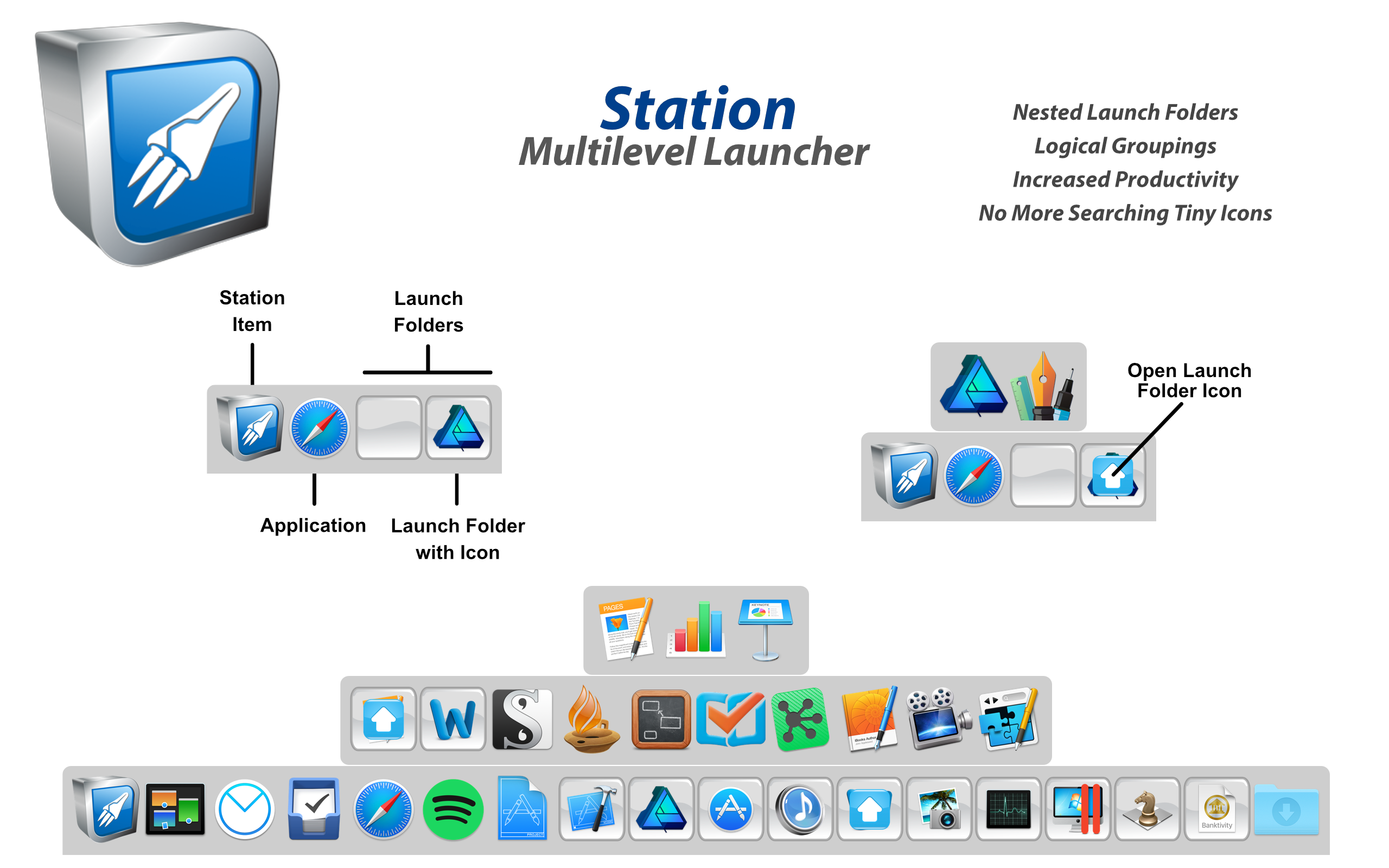 Station 1.4 - Multilevel Dock for macOS Image