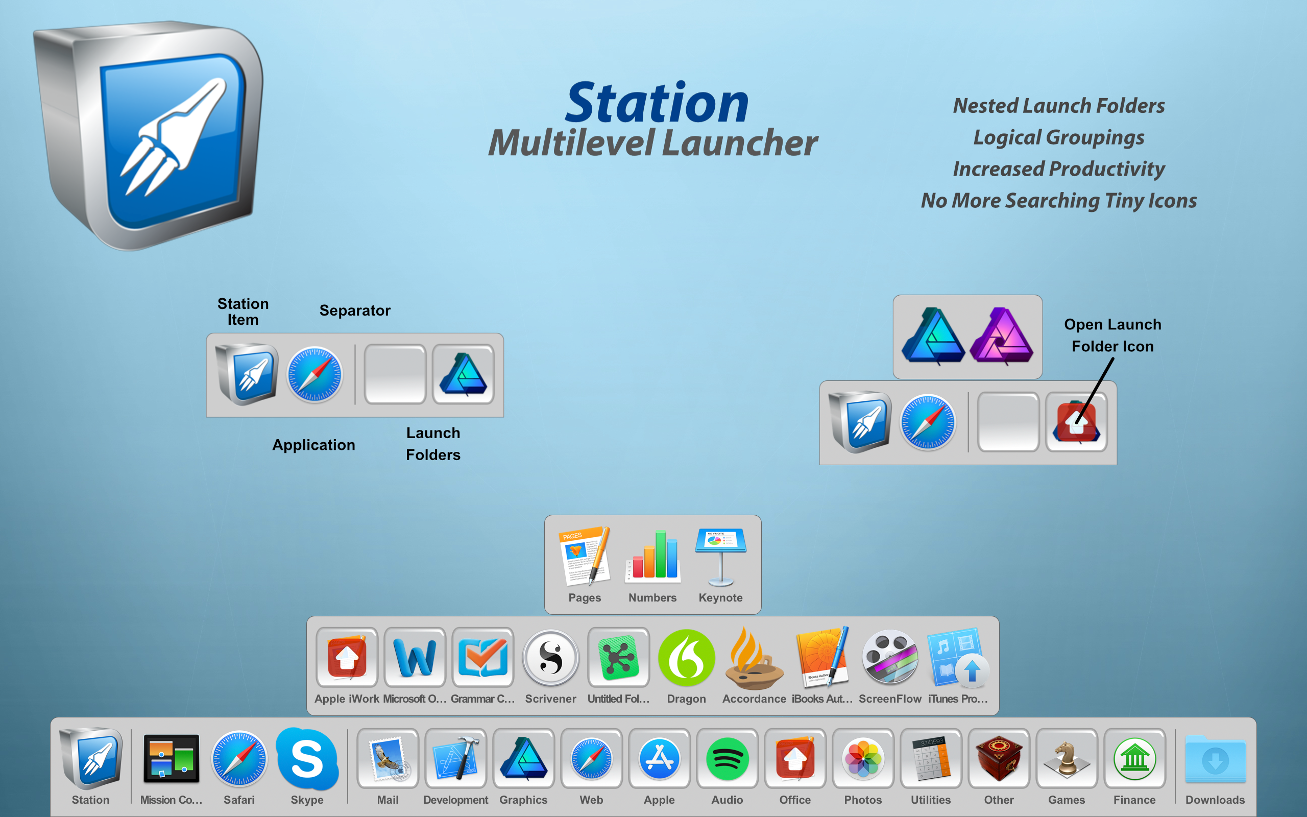 Station 2.6 - Multilevel Dock for macOS Image
